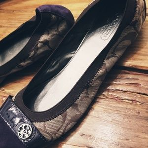 New! Coach Ballet Flats